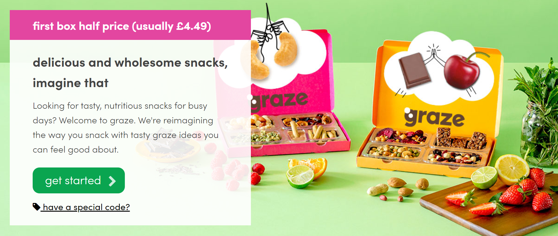 FREE Graze Box (Worth £4)